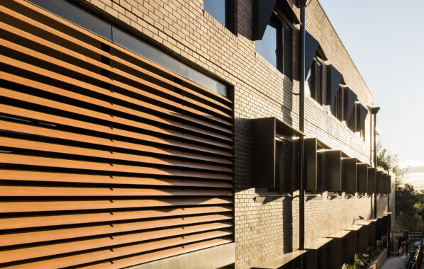 Louvreclad - Bupa - Timber look Aluminium Louvres