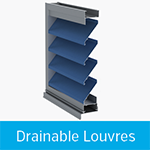 drainable louvres