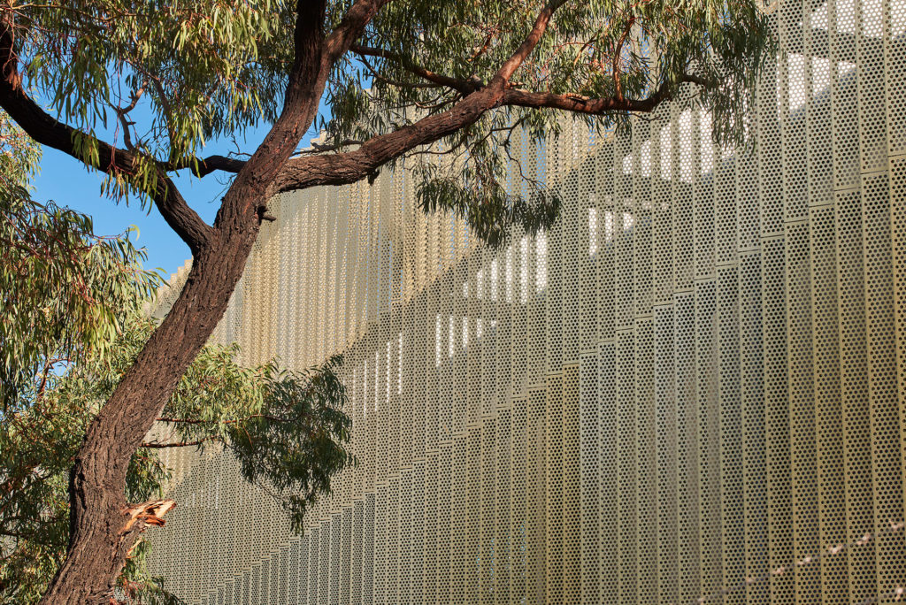 Perforated metal louvres