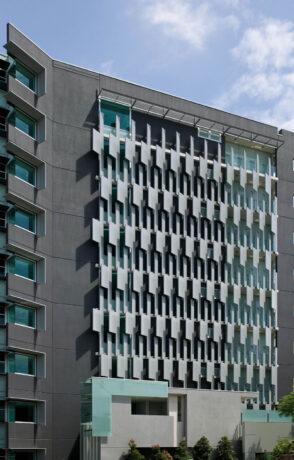 building facade feature screens