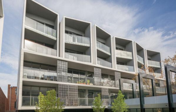 Polaris Series perforated metal screens - Malvin Hill Apartments