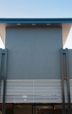 Fixed aluminium louvres
