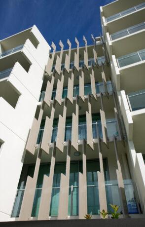 Kingfisher Apartments - wickham Series elliptical louvres