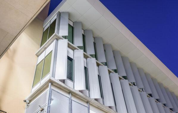 vertical aluminium elipsoid blades