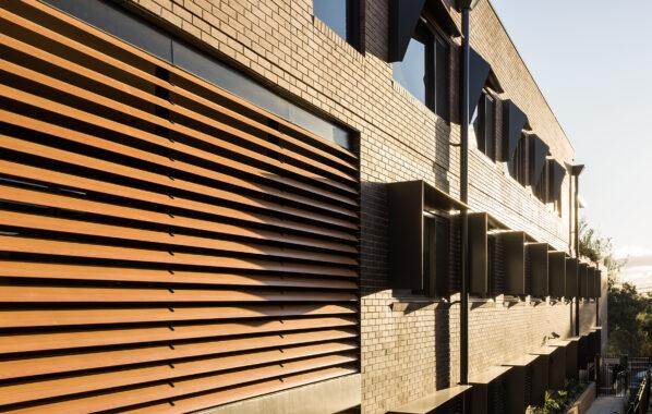 Louvreclad - Bupa - Timber look Aluminium Louvres