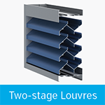 two stage louvres