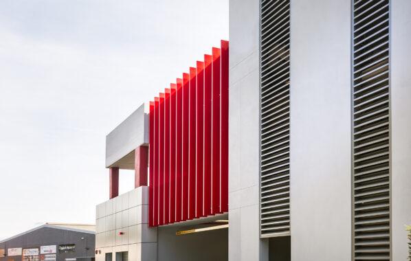2. vertical building fins