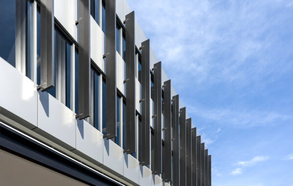 3. vertical building fins