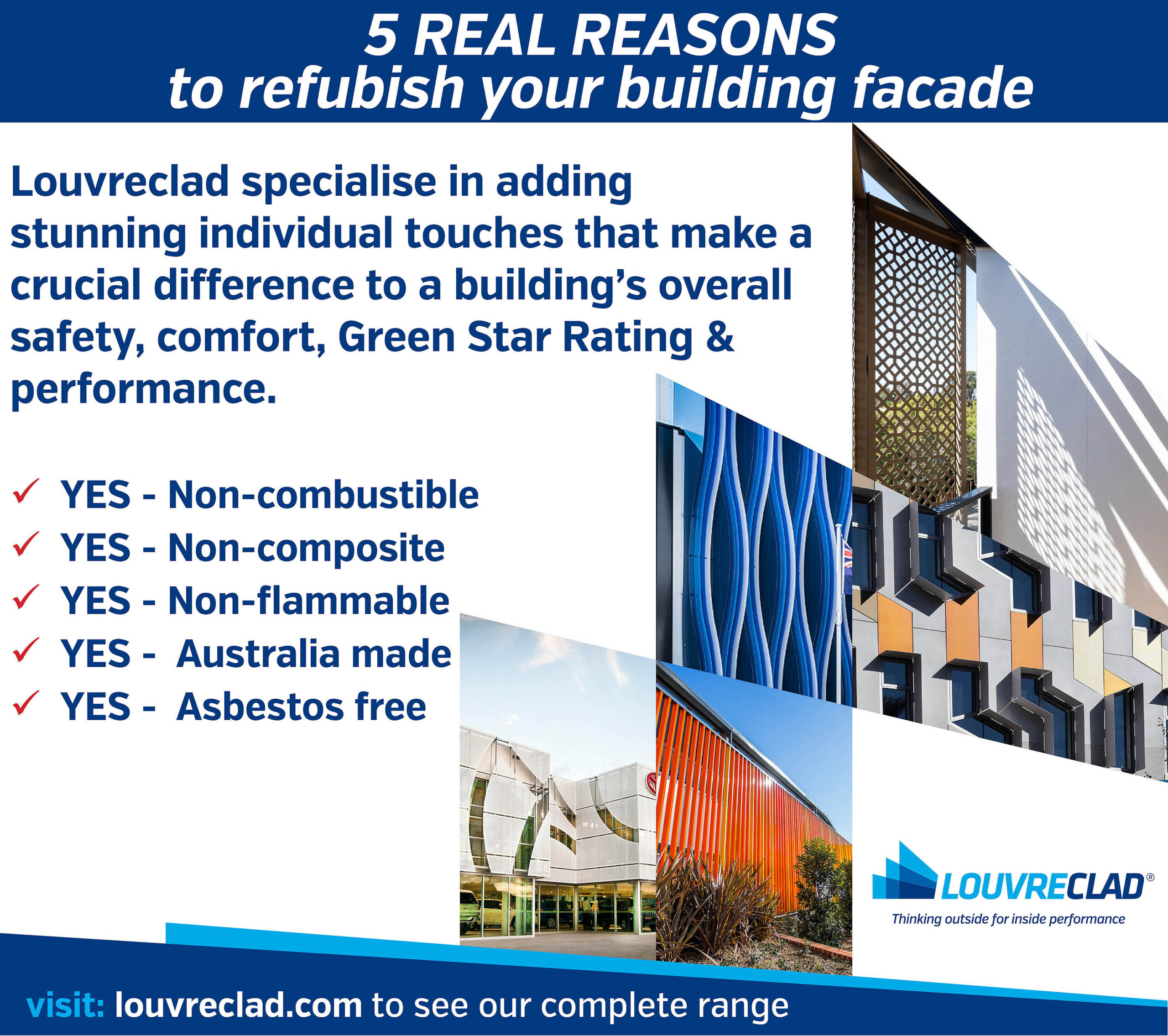 commercial refurb - building exteriors