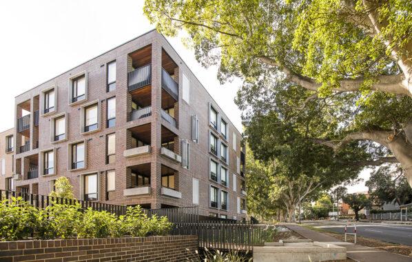 Bosco Apartments - Polaris Series perforated metal screens